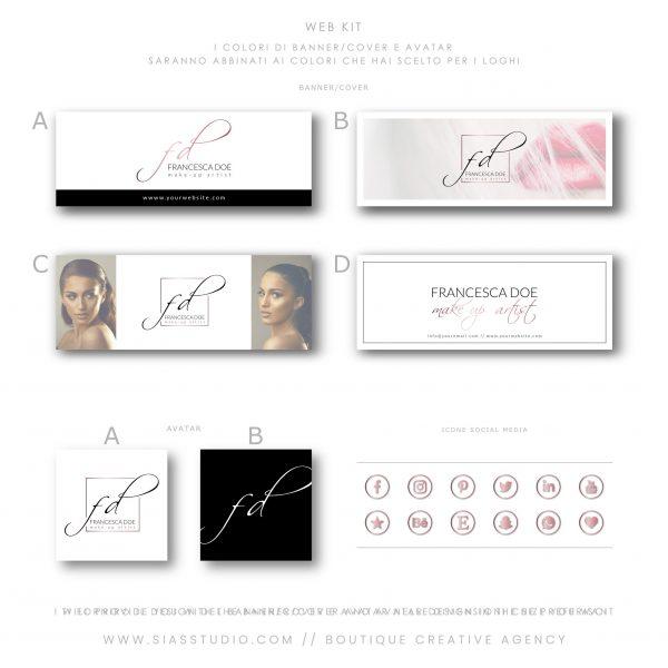 Sias Studio - Francesca Doe Pacchetto di branding Web kit