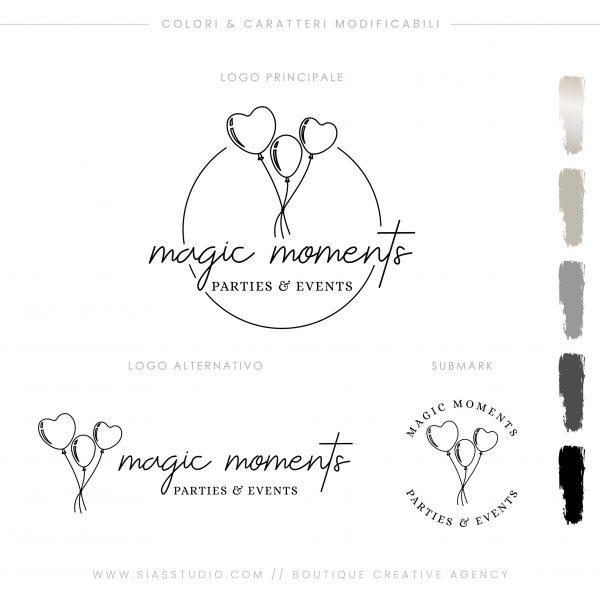 Sias Studio - Magic Moments Pacchetto di branding