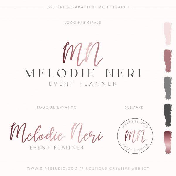 Sias Studio - Melodie Neri Pacchetto di branding