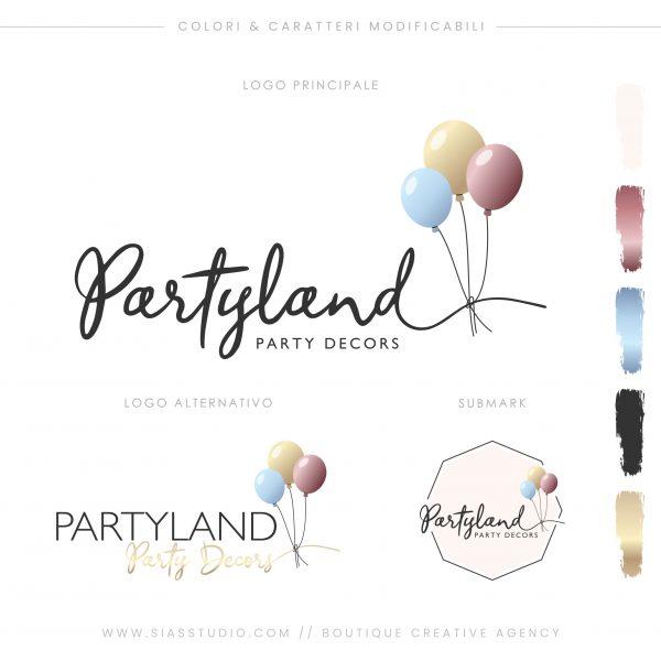 Sias Studio - Partyland Pacchetto di branding