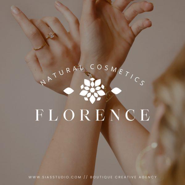 Florence - Modello di logo fai da te Filigrana bianca