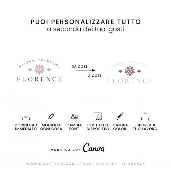 Florence - Modello di logo fai da te Tutto personalizzabile