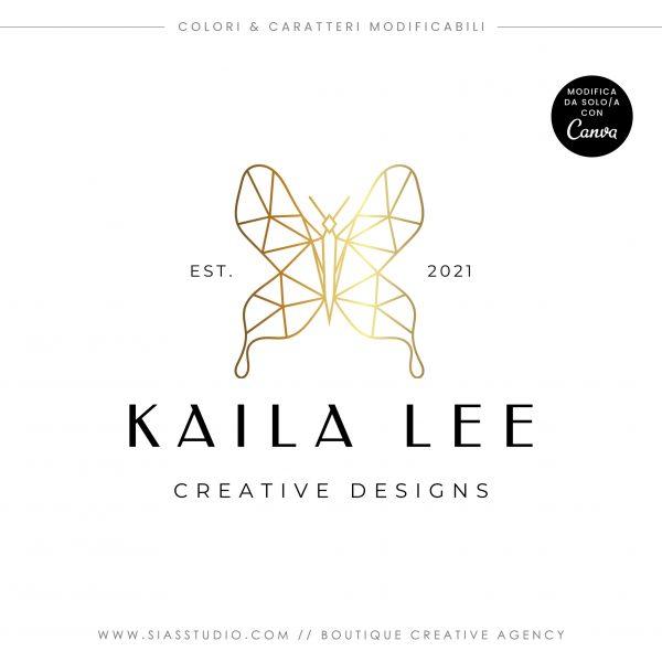 Kaila Lee - Modello di logo fai da te
