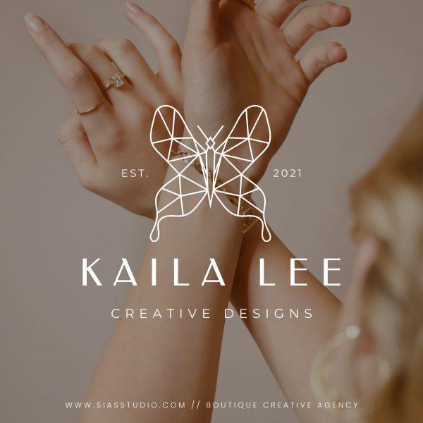 Kaila Lee - Modello di logo fai da te Filigrana bianca