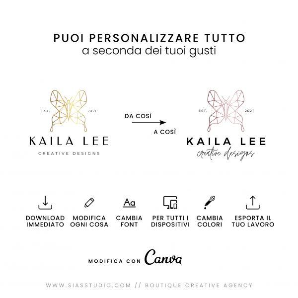 Kaila Lee - Modello di logo fai da te Tutto personalizzabile