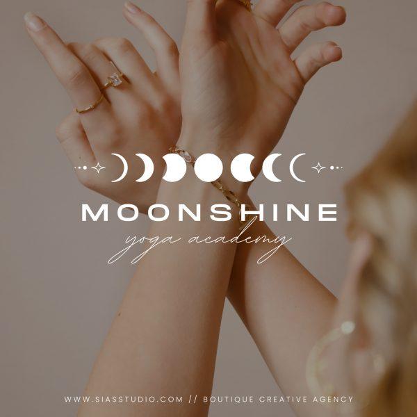Moonshine - Modello di logo fai da te Filigrana bianca