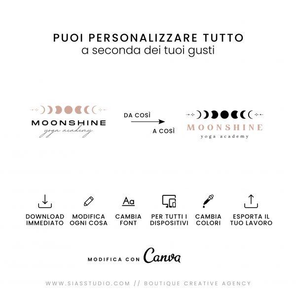Moonshine - Modello di logo fai da te Tutto personalizzabile
