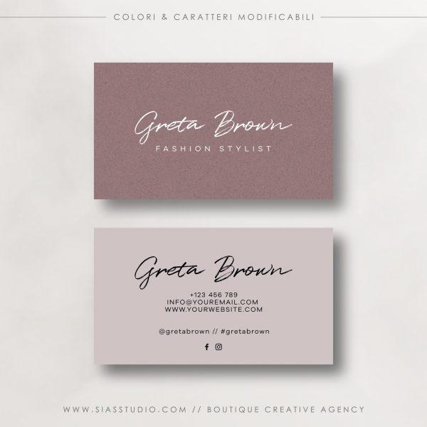Greta Brown - Biglietto da visita
