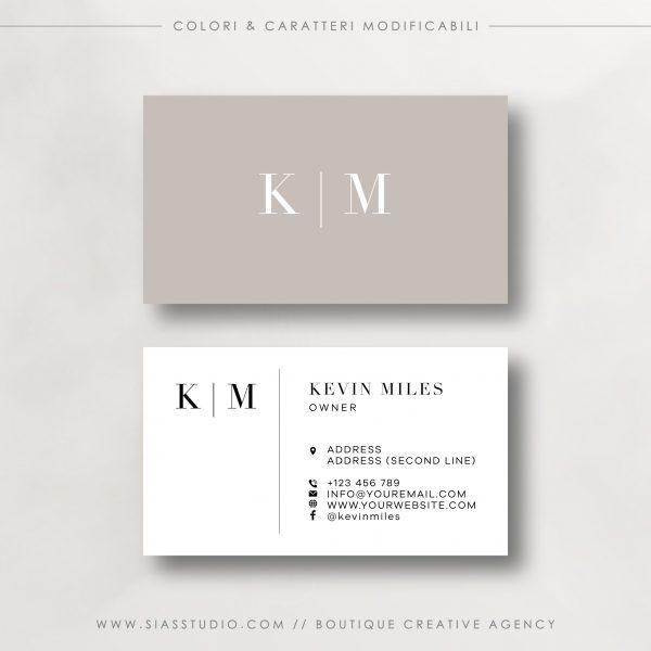 Kevin Miles - Biglietto da visita