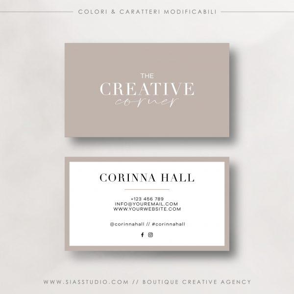 The Creative Corner - Biglietto da visita